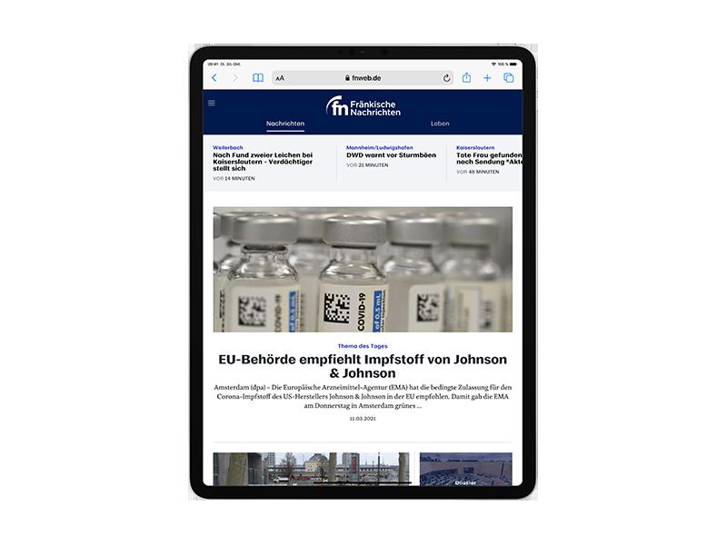 E-Paper-Abo Fränkische Nachrichten